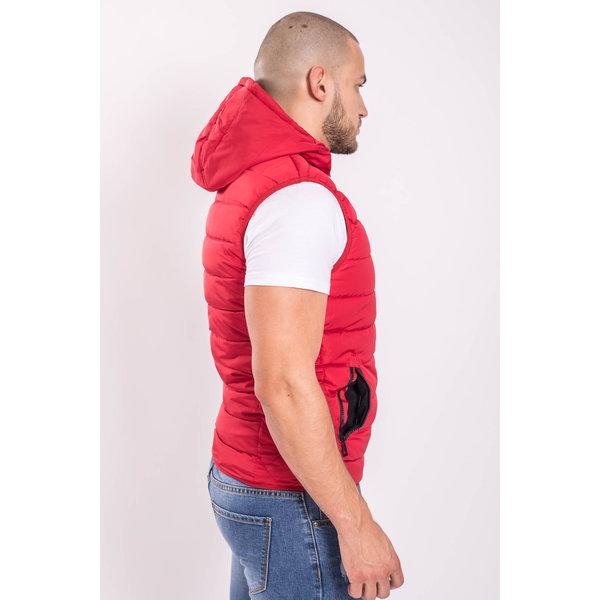 Y Bodywarmer Hooded Red