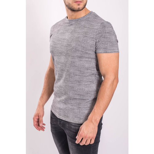 Y T-shirt patterned Grey/white/Black