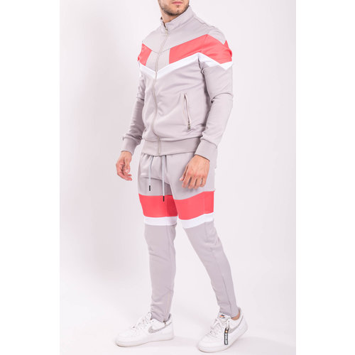 """Y Tracksuit """"Astro"""" Grey / Red / White"""