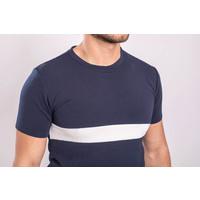Y Two Piece Set T-shirt + Shorts Dark Blue / White