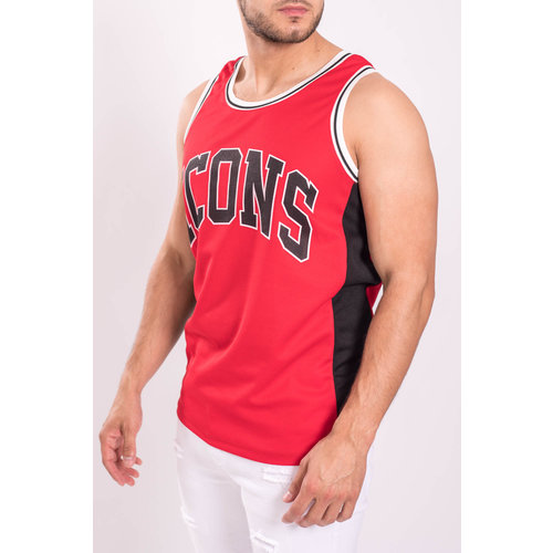 """Y Basketball Jersey """"icons"""" Red"""