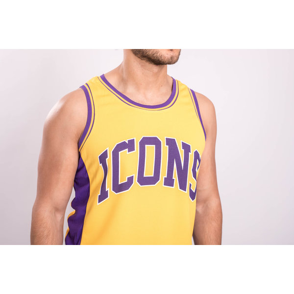 """Y Basketball Jersey """"icons"""" Yellow"""