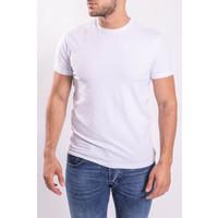 Y Basic stretch shirts round neck White