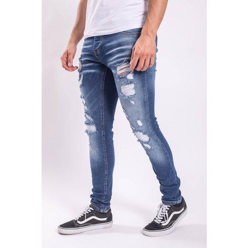 Y Skinny fit stretch jeans Blue distressed