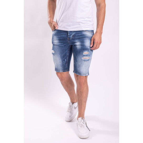 Y Jeans stretch shorts Blue distressed