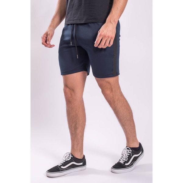 Y Shorts Dark Blue Black striped