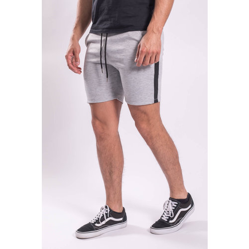Y Shorts Light Grey Black Striped