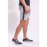 Y Shorts Light Grey Black Striped