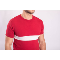 Y Two Piece Set T-shirt + Shorts RED / White