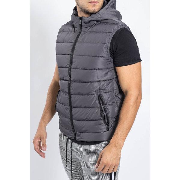 Y Bodywarmer Hooded Dark Grey