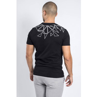 Y T-shirt Reflected triangles BLACK