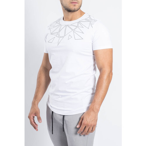 Y T-shirt Reflected triangles WHITE