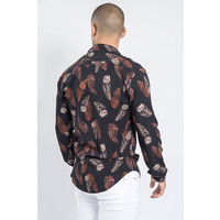 Y Summer blouse feathers BLACK