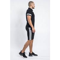 Two piece set shirt + shorts Black / white