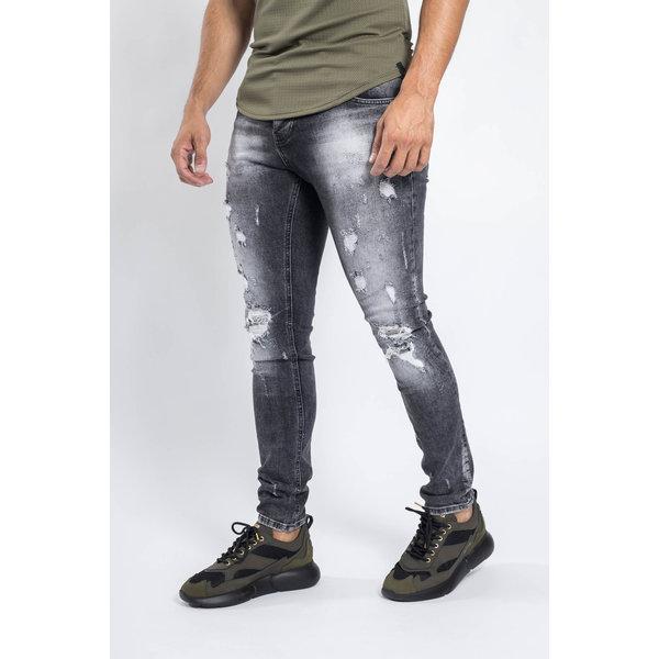 Y Skinny fit stretch jeans Dark Grey washed