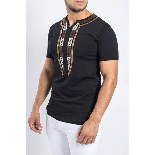 Y T-shirt dashiki BLACK