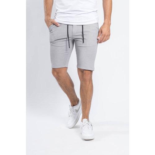 Y Grey cotton stretch shorts