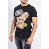 Y T-shirt Dollar Bear BLACK