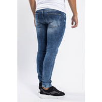 Y Skinny fit stretch jeans Blue with lime splashes