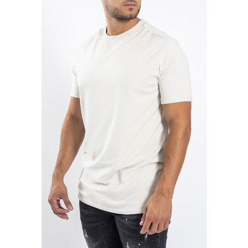Y Crewneck T-shirt oversized Sand