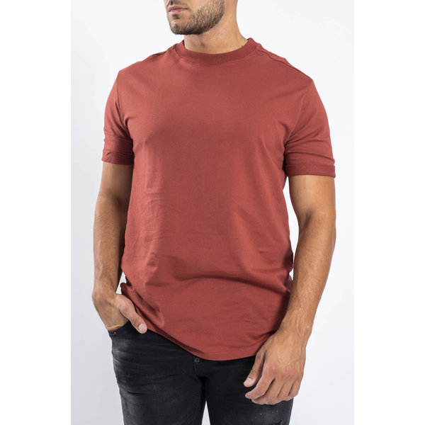 Y Crewneck T-shirt oversized Stone red