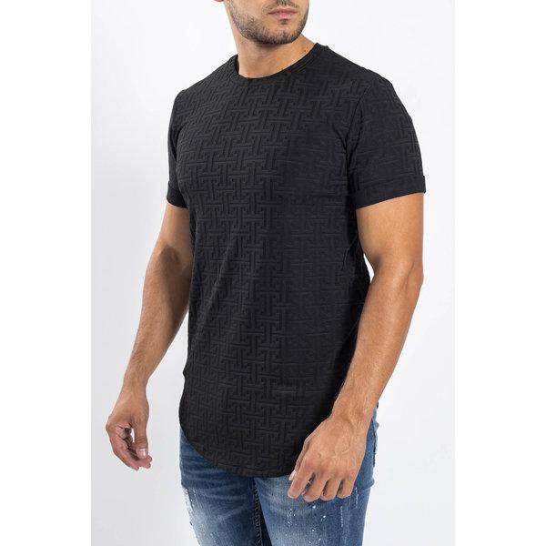 Y T-shirt patterned Black