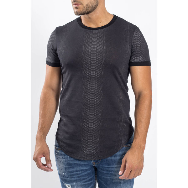 Y T-shirt Snake print Black