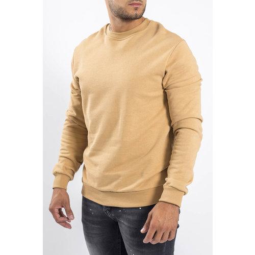 Y Crewneck Sweaters Beige