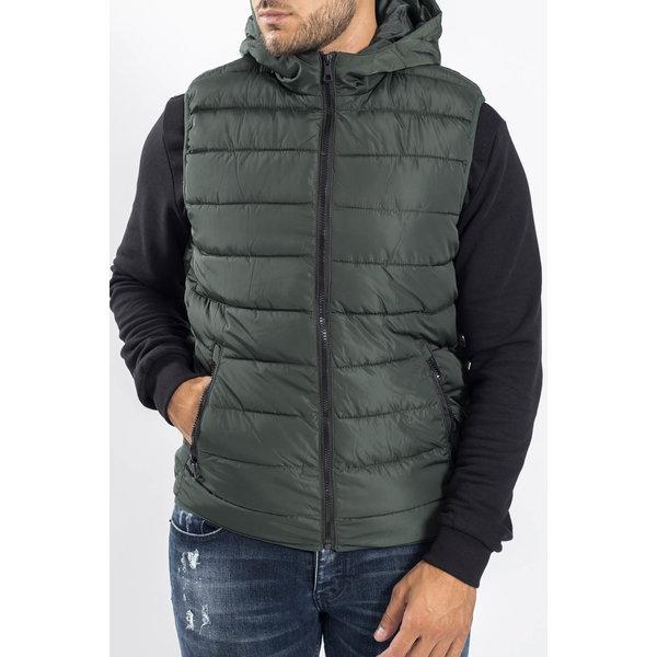 Y Bodywarmer Hooded Green