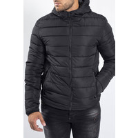 Y Down Jacket Hooded Black