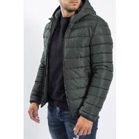 Y Down Jacket Hooded Green