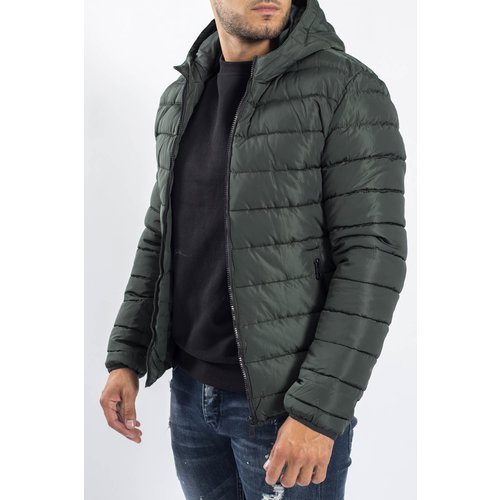 Y Down Jacket Hooded Green