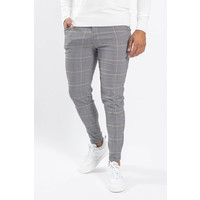 Y Checkered Stretch Pantalon Grey/beige