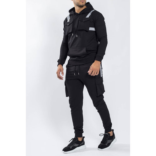 Y Tracksuit reflected multi pockets Black