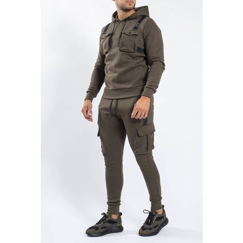 Y Tracksuit multi pockets warm gevoerd Green