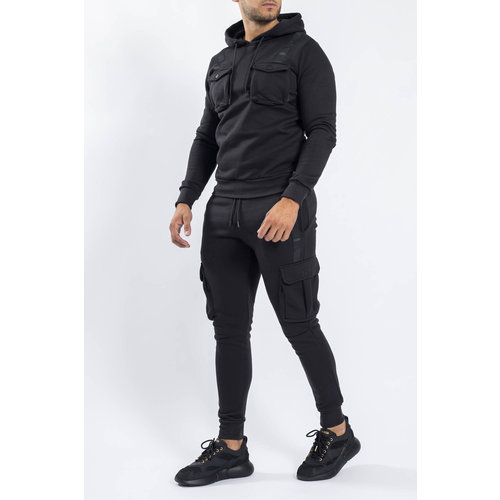 Y Tracksuit multi pockets warm gevoerd Black