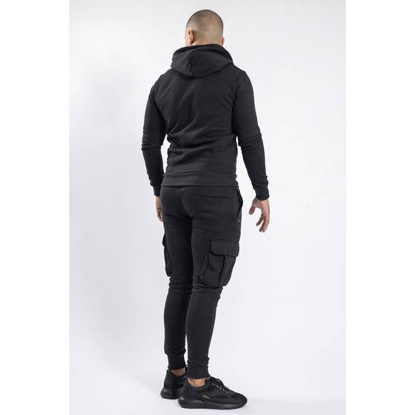 Y Tracksuit multi pockets warm gevoerd Black