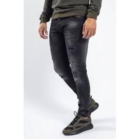 Y Skinny fit stretch jeans Black with splashes