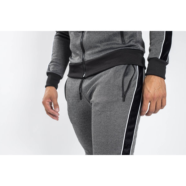 Y Tracksuit Velvet striped Grey