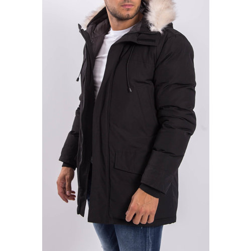 Y Winter parka faux fur Black