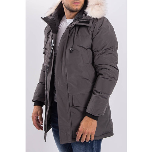 Y Winter parka faux fur Grey