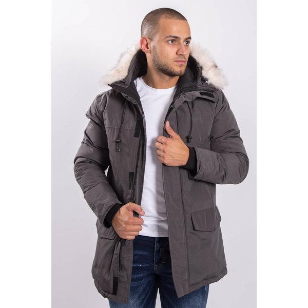 Y Winter parka faux fur Grey