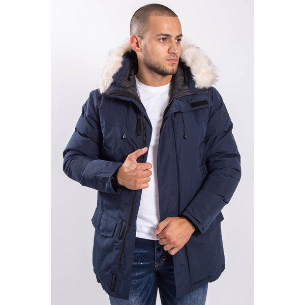 Y Winter parka faux fur Navy