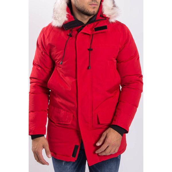 Y Winter parka faux fur Red