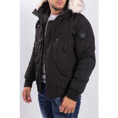 Y Winterjas short with faux fur Black