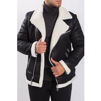Y Aviator Lammy Jacket suede look Black / White