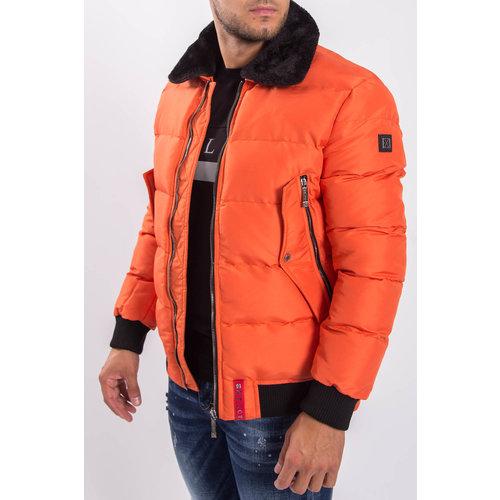 Y XPLCT Dolce Pilot Jacket Orange