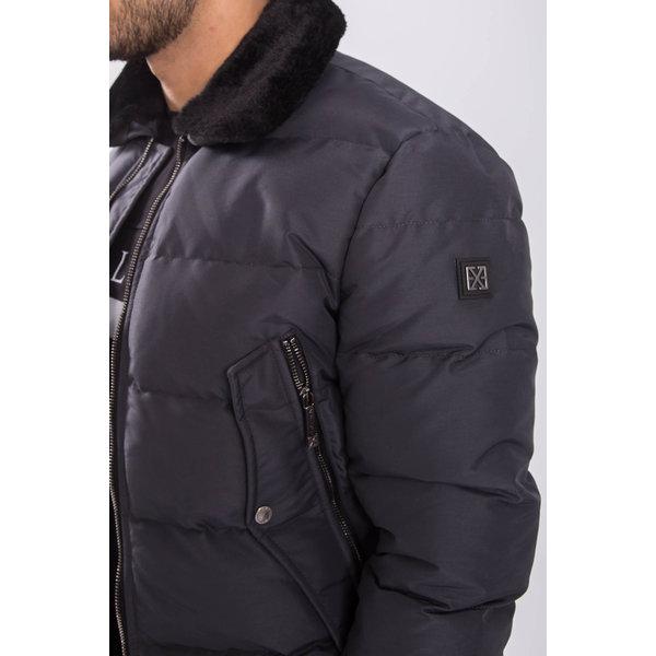 Y XPLCT Dolce Pilot Jacket Grey