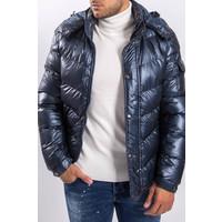 Y Puffer Jacket Blue