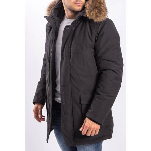 Y Winter parka real fur BLACK